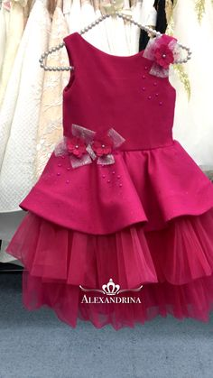 Girls Dresses Sewing, Frocks For Girls, Kids Outfits Girls, Little Girl Dresses, Flower Girl Dresses, Girls Frock Design, Baby Dress Design, Kids Dress Wear, Kids Gown
