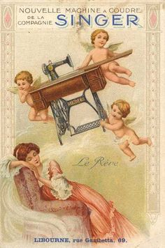 Singer sewing machine advertisement