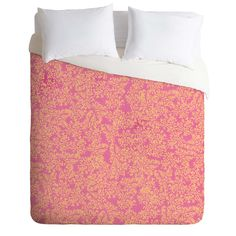 Joy Laforme Coral Me Peach Duvet Cover | DENY Designs Home Accessories