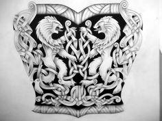 Love this Celtic lion design