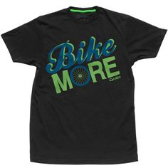 Bike More 100% Organic Cotton Short Sleeve Crew. Using a bike instead of a car for transportation reduces carbon emissions. By purchasing this shirt, you are saving one square meter of #rainforest forever and contributing to the sustainability of our planet. $28 #cuipo