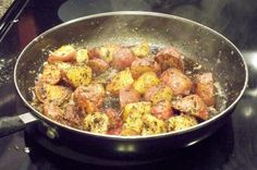 """Stove-Top """"roasted"""" Red Potatoes - made for dinner. so good!"""