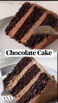 Chocolate Filling For Cake, Amazing Chocolate Cake Recipe, Best Chocolate Cake, Chocolate Recipes, Chocolate Cake Fillings, Chocolate Birthday Cakes, Fluffy Chocolate Cake, Dairy Free Chocolate Cake, Recipes
