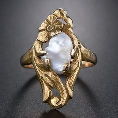 Beautiful Raw Pearl Ring