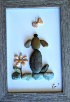 New Wall Art Diy Butterfly Etsy Ideas Metal Tree Wall Art, Diy Wall Art, Diy Art, Wall Art Decor, Stone Crafts, Rock Crafts, Arts And Crafts, Stone Pictures Pebble Art, Stone Art