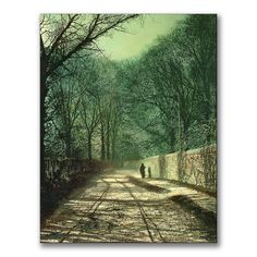 "Trademark Fine Art 18x24 inches John Grimshaw ""Tree Shadows In The Park Wall"""