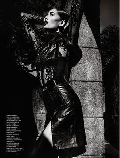 noir: marcelia freesz by gustavo zylbersztajn for marie claire brazil june 2013 | visual optimism; fashion editorials, shows, campaigns & more!