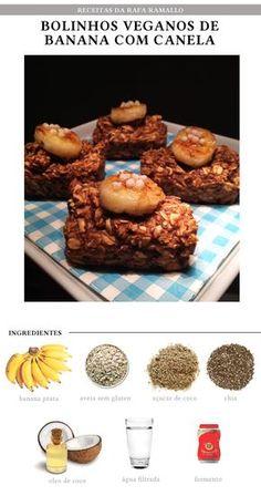 Fit Chef: Bolinhos Veganos de Banana com Canela | CAROL BUFFARA