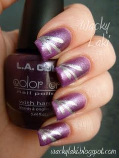 LA Colors - Purple from Shimmer Bright set with simple nail art