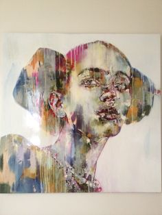 Marco Grassi - Ap sample abstract painting with knife then image then cutout