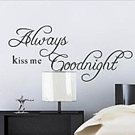 Always+Kiss+Me+Goodnight+Quote+Wall+Decal+Zooyoo2003+Decorative+Adesivo+De+Parede+Removable+Wall+Sticker+–+CAD+$+10.27