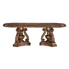 San Mateo Double Pedestal Oval Top Dining Table by Pulaski Furniture at Baer's Furniture