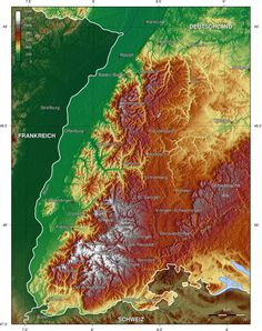 black forest germany topographic map - Google Search