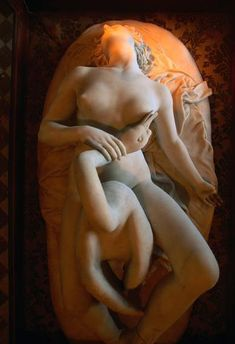 anitramm:  Leda and the Swan, unknown sculptor, 19th century, Scindia Museum, Gwalior, India