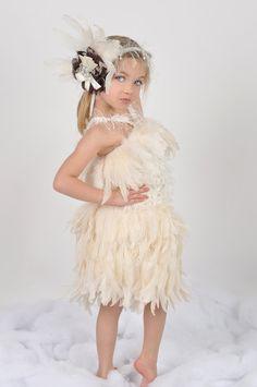 Ice Princess Girls Feather Skirt by sharpsissors on Etsy, $148.00