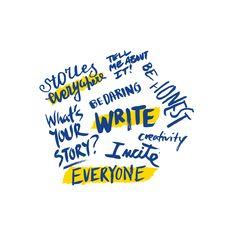 Hyperakt | Empowering everyone to write theirstory by Hyperakt #handdrawn #handwritten #typography
