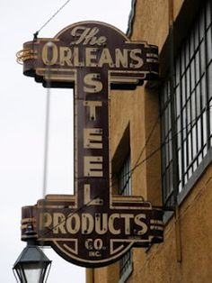 New Orleans Steel Products - Vintage neon Sign