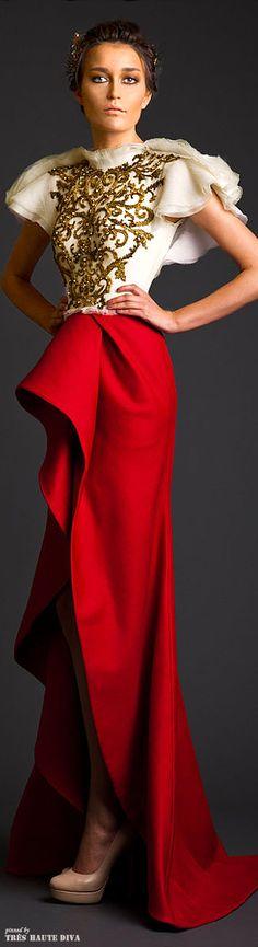 Krikor Jabotian Couture 2014- Regal (almost napoleonic) elegance http://www.wedding-dressuk.co.uk/prom-dresses-uk63_1