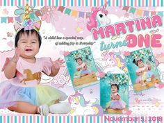 Unicorn tarpaulin Style for First Birthday Unicorn was one of the most fas. Unicorn tarpaulin Style for First Birthday Unicorn was one of the most fascinating creature Unicorn Party Hats, Unicorn Themed Birthday, Unicorn Birthday Invitations, Birthday Tarpaulin Design, Birthday Scrapbook Layouts, Party Layout, Unicorn Backgrounds, Invitation Layout, Carousel Party