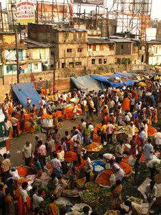 Mullik Ghat Flower Market, Kolkata, West Bengal, India