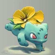 型男繪師《妙蛙種子開出什麼花》如果可以開出不同花朵也很美呢 - 圖片4