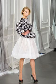 Dior!!!!!!!! One of my favorite outfits evar. Harringbone + hot white skirt.
