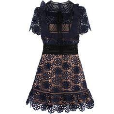 6f1087c5de4d1 Self-Portrait Louisa Guipure Dress (12,470 THB) ❤ liked on Polyvore  featuring dresses