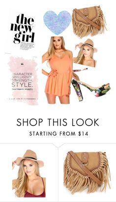 """""""The new girl in town"""" by amiclubwear ❤ liked on Polyvore featuring neon, ChunkyHeels and Springhats"""