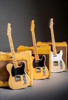 Fender Telecaster and Friends Fender Telecaster, Gretsch, Telecaster Vintage, Vintage Guitars, Music Guitar, Cool Guitar, Playing Guitar, Easy Guitar, Guitar Art