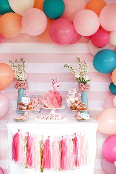 Flamingo Party, Flamingo Cake, Flamingo Birthday, Pink Birthday, Pink Flamingos, Cake Birthday, Birthday Gifts, Pink Dessert Tables, Dessert Table Birthday