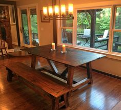 Farm Style Trestle Table: The Federal Hill by CharmCityWoodworks