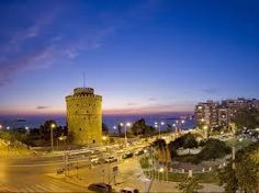 White Tower of Thessaloniki, Monument, Night, Greece Turu, Greece Islands, Places Of Interest, Island Beach, Greece Travel, Capital City, Willis Tower, Night Life, Monument Valley