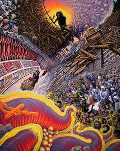The Visionary Imagery Of Mark Henson Trippy, Art Visionnaire, Psychedelic Experience, Psychadelic Art, Death Art, Acid Art, Psy Art, Mystique, Surreal Art