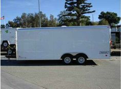 "2016 New Haulmark TST85X20WT2 - DLX Toy Hauler in California CA.Recreational Vehicle, rv, 2014 HAULMARK TST85X20WT2 - DLX, 16"" ON CENTERS, 2 3500lbs TORSION ALL WHEEL ELECTRIC BRAKE AXLES, G.V.W.R.7000LBS, EMERGENCY BREAKAWAY, 5LUG HUBS, ST205/75R15 RADIAL TIRES, CHROME CENTER CAPS, .030 POWDERCOATED ALUMINUM SIDING, POLAR WHITE CAP, .080 ALUMINUM TOP WRAP, 24"" ATP STONEGUARD, 5.2MM WHITE VINYL SIDEWALL LINER , WHITE VINYL CEILING LINER, 3/4"" PLYWOOD FLOORING, DUAL SPRING ASSISTED RAMP DOOR…"