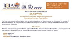 Belize Book Insudtry Association Book Fair at Cayo Welcome Center.  Friday, May 2nd, and Saturday, May 3rd, starting at 9:00am. http://sco.lt/97WXSr