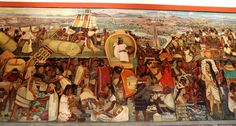 Mural in the passageways of the Palacio National