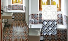 Cement tiles on floor and walls #mosaicdelsur #cementtiles