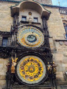 The beautiful astronomical clock in Prague