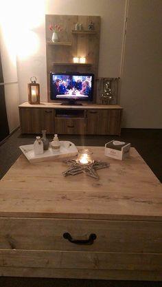 Steigerhouten tv meubel en salontafel !