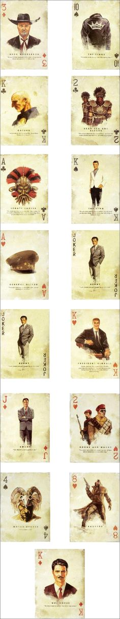 Cool playing cards for Fallout: New Vegas #fallout #kurttasche