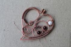 """Tutorial After """"Autumn Marathon"""": do the suspension in the form of a leaf of copper in the technique of wire wrap - Fair Masters - handmade, handmade"""