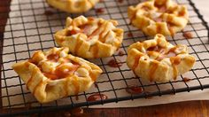 Caramel Apple-Marshmallow Tarts - use refrigerated pie dough, apple pie filling, mini marshmallows, caramel topping.