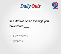 Participate to Win! Health Quiz, In A Heartbeat, Breathe