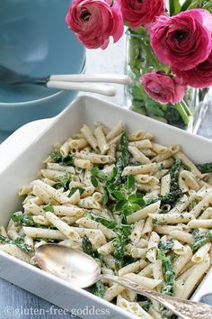 Lemon Infused Gluten-Free Pasta Salad with Fresh Herbs and Grilled Asparagus
