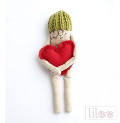 Gift primitive funny cotton art doll in green hat Saint Valentine, Valentine Gifts, Owl Cat, Green Hats, Fabric Dolls, Art Dolls, Primitive, Best Gifts, Creative