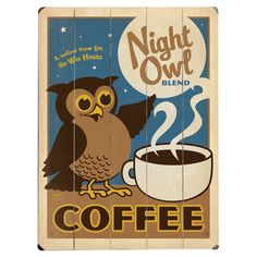 Night Owl Wall Decor {cute idea for the kitchen}