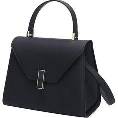 Black Minimalist Buckled Handbag (115 GTQ) ❤ liked on Polyvore featuring bags, handbags, tote bags, gamiss, purse tote, handbags totes, purse tote bag, handbags tote bags and hand bags