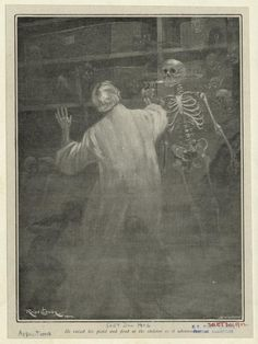 He raised his pistol and fired at the skeleton as it advanced - ID: 834579 - NYPL Digital Gallery