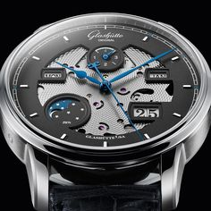 Our Senator Excellence Perpetual Calendar – Limited Edition is a modern composition in blue and gre