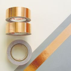 Copper Foil Tape | Lovely Pigeon Masking Tape, Washi Tape, Copper Foil Tape, Paper Goods, Decoration, Stationery, Diy Projects, Crafty, Creative